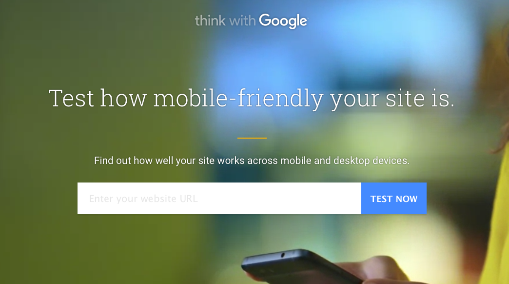 Google tool for checking mobile-friendly websites