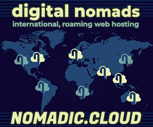 Nomadic Cloud - web hosting for digital nomads